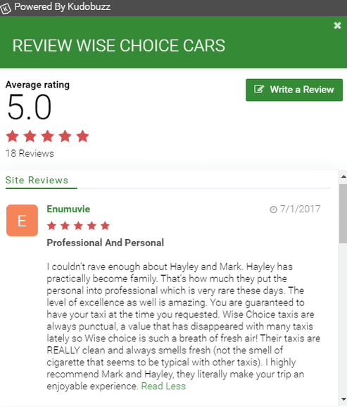 wise choice cars taxi in henley review